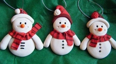 Polymer clay Xmas decoration workshop for children